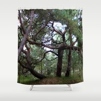 fairytale Shower Curtains featuring fairytale by anru