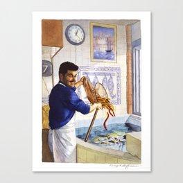 Portuguese Eel Seller Canvas Print