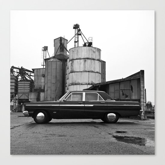 Industrial district Ford Canvas Print