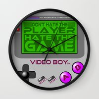 video game Wall Clocks featuring Don't Hate The Player, Hate The Game!  |  Video Game by Silvio Ledbetter