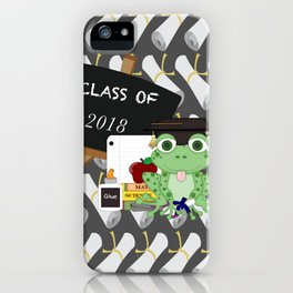 Graduations Diplomas And Frog iPhone Case