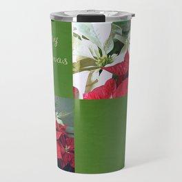 Mixed color Poinsettias 3 Merry Christmas Q5F1 Travel Mug