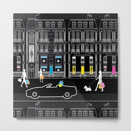 Shopping by night Avenue Montaigne Metal Print
