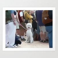 poodle Art Prints featuring Poodle by Mark Josephson