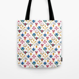Blue Bell – Scandinavian folk art Tote Bag