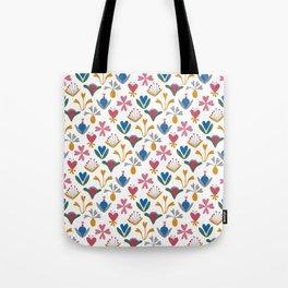 Fantasy Flowers – Bluebell – Scandinavian Folk Art Tote Bag