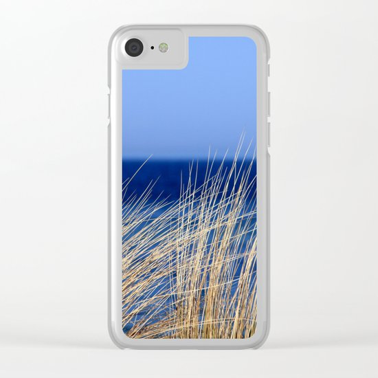 blue Clear iPhone Case