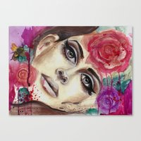 lana del rey Canvas Prints featuring Lana Watercolor Painting Del Rey by noahsart