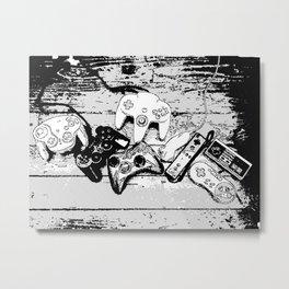 Joysticks collection Metal Print