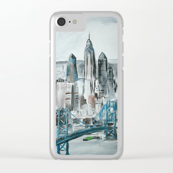Philadelphia, Pennsylvania, USA Fine Art Acrylic Painting Clear iPhone Case
