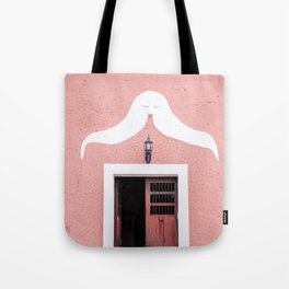 Pink House in Mexico Tote Bag