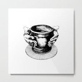 Potter's Ink Art Metal Print