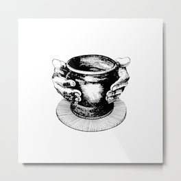 Potter's Ink Art Metal Print