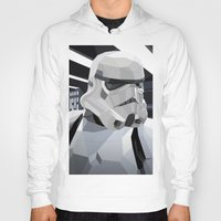 storm Hoodies featuring Stormtrooper by Liam Brazier