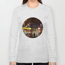 Window reflection Granville St Vancouver Long Sleeve T-shirt