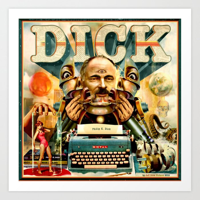 Portrait of Philip K. Dick Art Print
