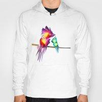 phoenix Hoodies featuring Phoenix by Irmak Akcadogan