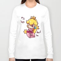 princess peach Long Sleeve T-shirts featuring Princess peach by HeliPeach