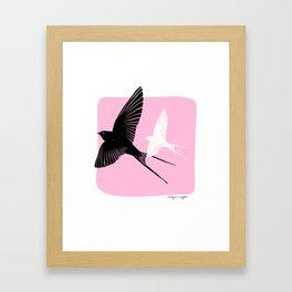 Sparrows in Flight Framed Art Print