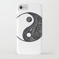 ying yang iPhone & iPod Cases featuring Ying & Yang by Lauren Moore