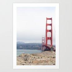 Golden Gate Blur Art Print