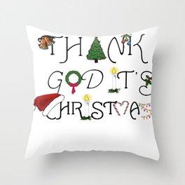 Thank God It's Christmas Consumer Irony Vector Throw Pillow