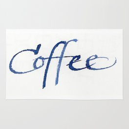 Coffee calligraphy Rug