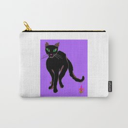 Kitty Carman with Purple Background Carry-All Pouch