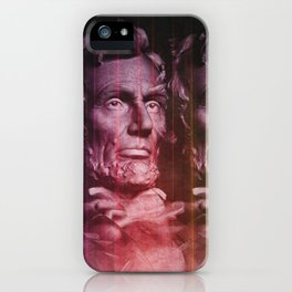 Abraham Lincoln colored iPhone Case