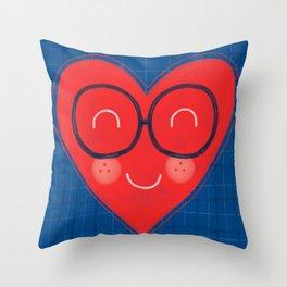 Handsome Heart Throw Pillow