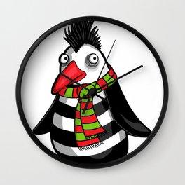 Christmas Penguin Clip Art Penguin Illustration Wall Clock