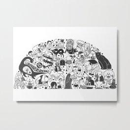 To el tintero entero - Underground comic characters Metal Print