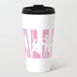 Ballet in Light Pink with Ballerina Cutouts Travel Mug