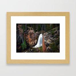 South Clear Creek Falls Framed Art Print
