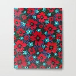 Carnations & Columbine Flowers Metal Print