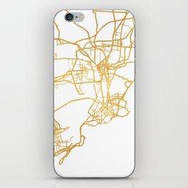 QINGDAO CHINA CITY STREET MAP ART iPhone Skin