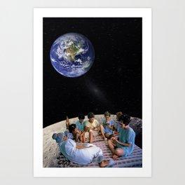 GIRLS NIGHT IN SPACE Art Print