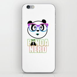 Panda Nerd Girl - Rainbow iPhone Skin
