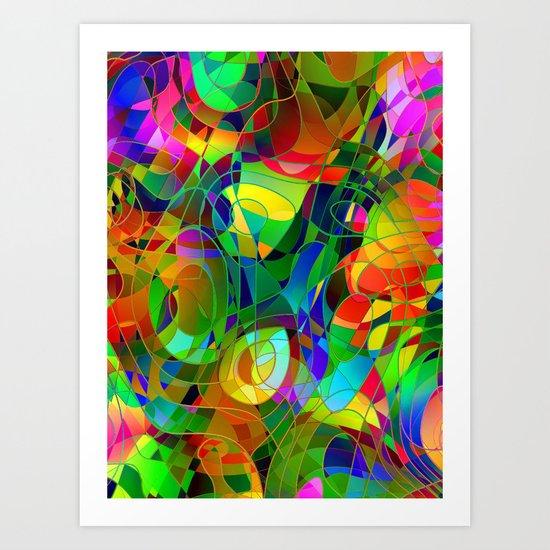 Bouquet Abstract Art Print