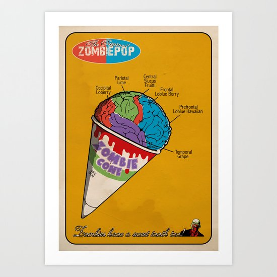 Zombie Cone Art Print