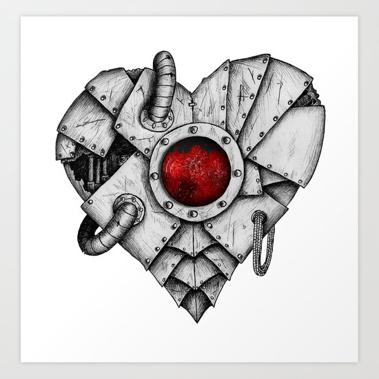 Heart - Mech Art Print