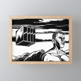 Farther BW Framed Mini Art Print