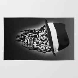 Elegant Skull with hat, B&W Rug
