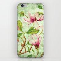 magnolia iPhone & iPod Skins featuring Magnolia by CatDesignz