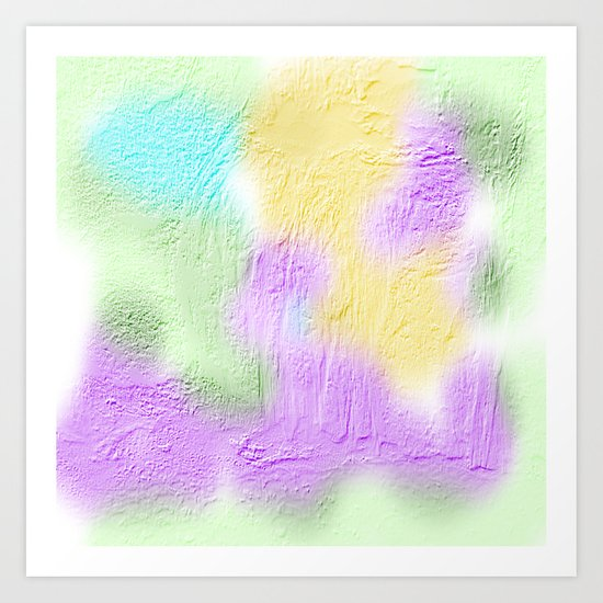 Water color painting and texture Art Print