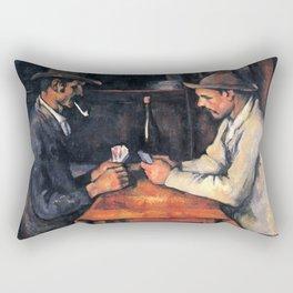 The Card Players Oil Painting Paul Cézanne Rectangular Pillow