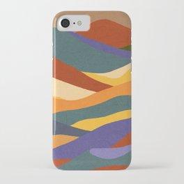 Dune #5 minimalistic abstract landscape illustration  iPhone Case