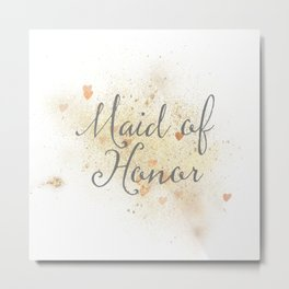 Shining Maid of Honor Metal Print