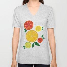 Citrus Delights Unisex V-Neck