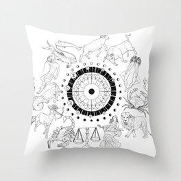As Above, So Below - Zodiac Illustration Throw Pillow